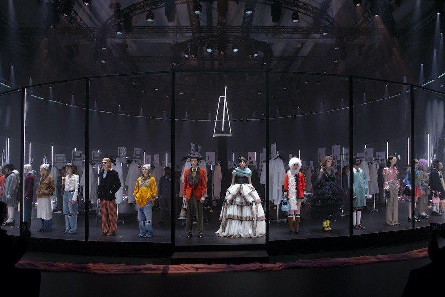 Un momento della sfilata di Gucci Autunno-Inverno 2020/2021